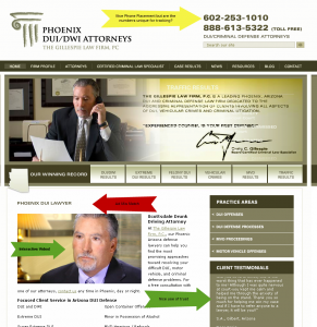 gillespie law firm dui attorney screen shot